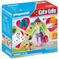 PLAYMOBIL FASHION GIRL ΜΕ ΣΚΥΛΑΚΙ 70595